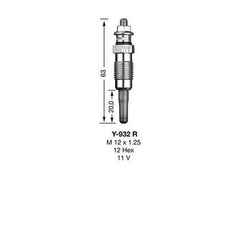 Kaitinimo žvakė NGK DP25 (7947)