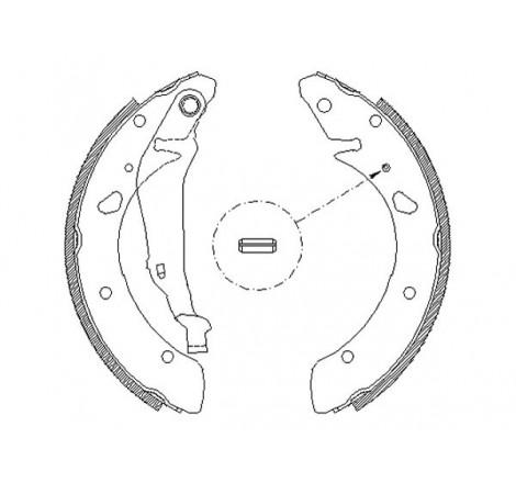 Būgninių stabdžių trinkelės galinės Honda Accord VII -03