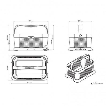 Rati krepšio matmenys