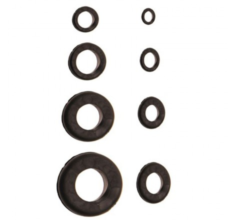 Įvairų guminių žiedų rinkinys 180 vnt.