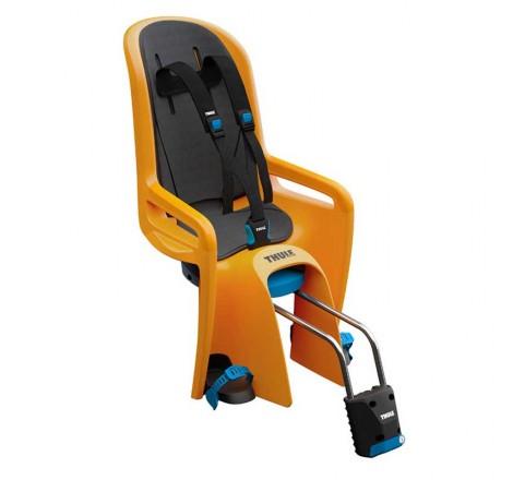 Dviračio kėdutė RideAlong tvirtinama prie rėmo oranžinė