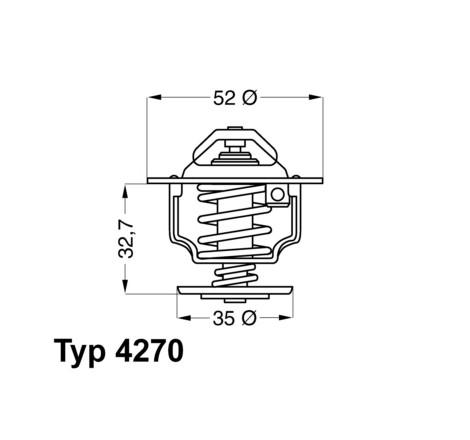 Aušinimo sistemos termostatas 4270.92D