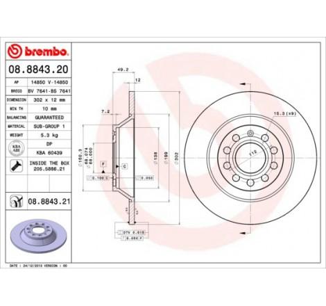 Stabdžių diskas Brembo A6...