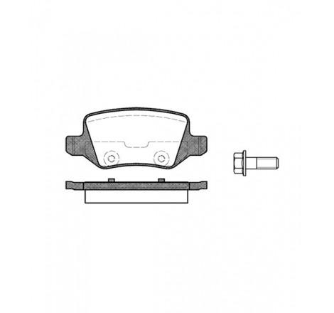 Diskinių stabdžių trinkelės galinės Mercedes Benz A -04