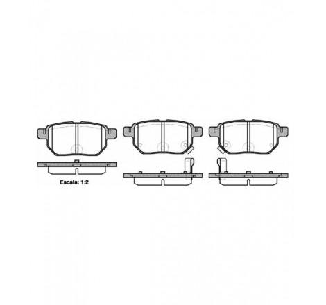 Diskinių stabdžių trinkelės galinės Toyota Yaris 06-