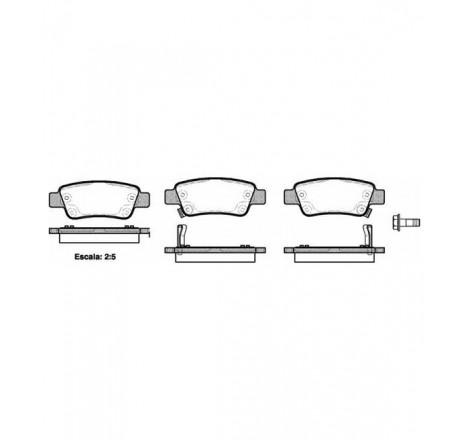 Diskinių stabdžių trinkelės galinės Honda CR-V III 07-