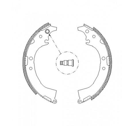 Būgninių stabdžių trinkelės galinės Toyota Rav4 II -06