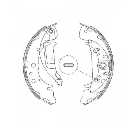 Būgninių stabdžių trinkelės galinės Hyundai Santa  Fe -05