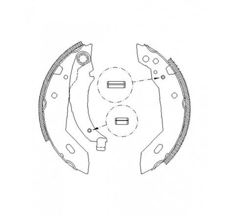 Būgninių stabdžių trinkelės galinės Citroen Xsara -00