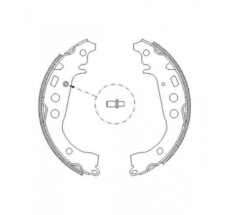 Būgninių stabdžių trinkelės galinės Toyota Yaris -01