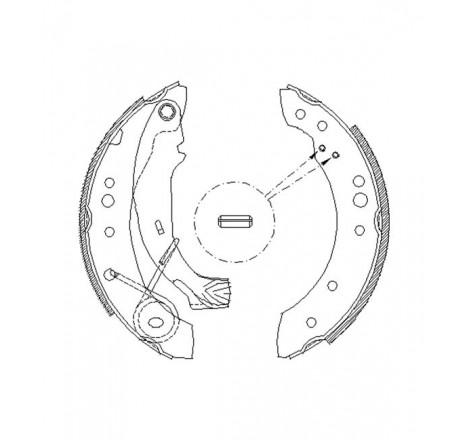 Būgninių stabdžių trinkelės galinės Citroen C3 02-