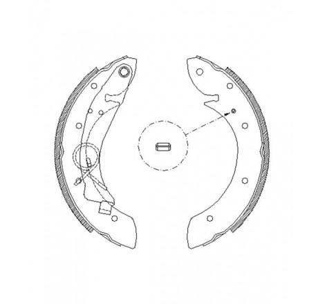Būgninių stabdžių trinkelės galinės Citroen Xsara -01