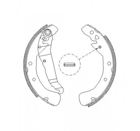 Būgninių stabdžių trinkelės galinės Opel Astra G -01