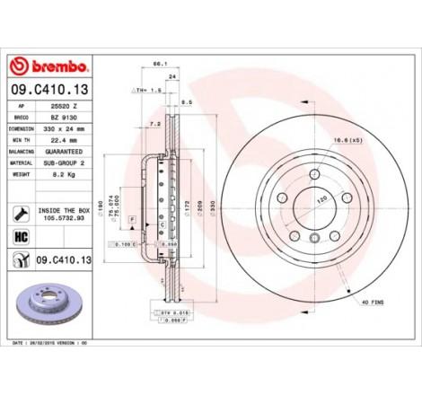 Stabdžių diskas Brembo Bmw...