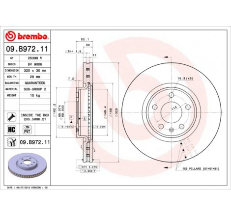 Stabdžių diskas Brembo A4...