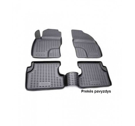 Guminiai salono kilimėliai 4 vnt Ford Focus 3 04/11-