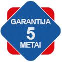 5 metai garantija