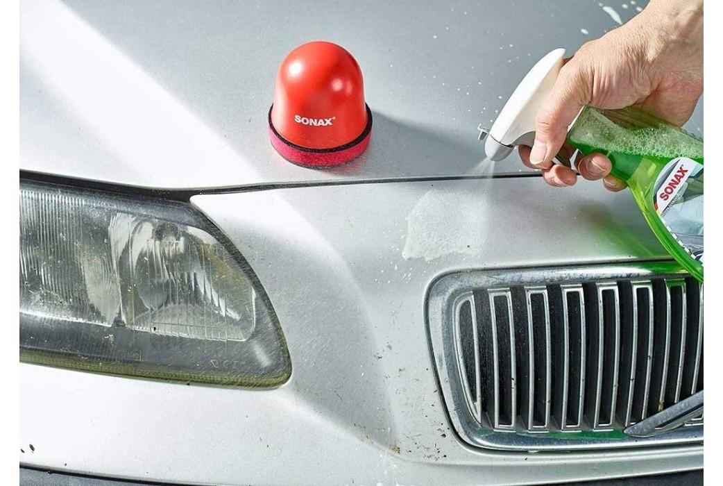 SONAX Clay-Ball dažų priežiūros-valymo kempinė su moliu pabaigs pradėtą darbą